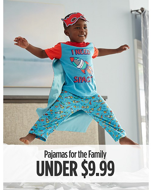 Pajamas for the Family Under $9.99