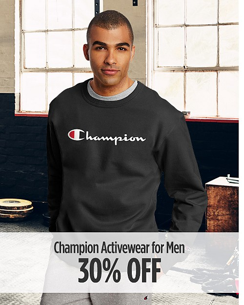30% Off Champion Activewear for Men