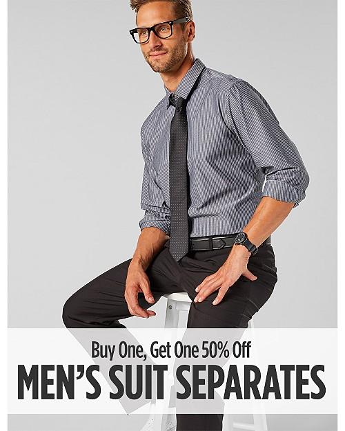 Buy One, Get One 50% Off Men's Suit Separates