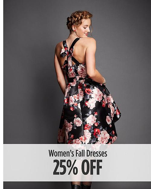 25% Off Women's Fall Dresses