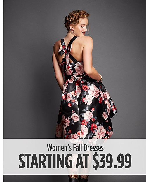 Women's Fall Dresses Starting at $39.99