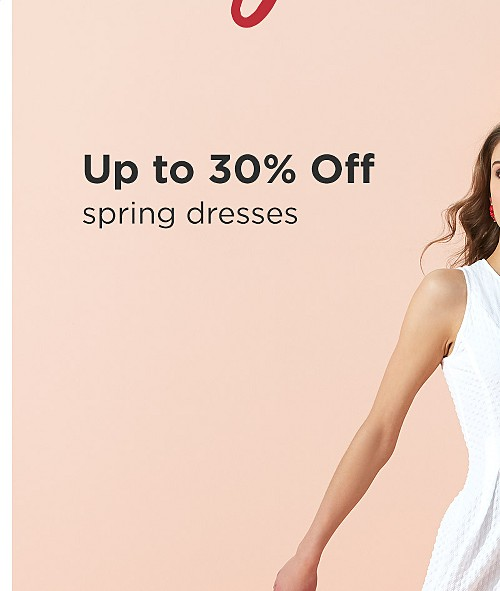 Up to 30% off Women's Spring Dresses