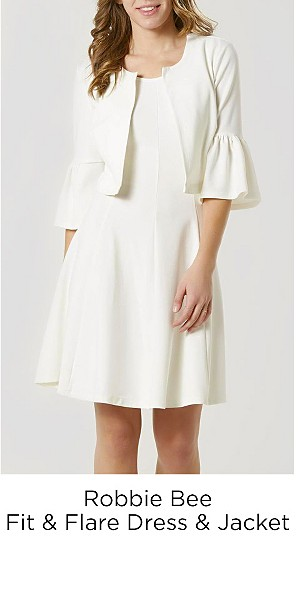 Robbie Bee Women's Fit & Flare Dress & Jacket