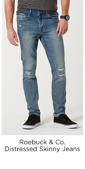 Roebuck & Co. Men's Distressed Skinny Jeans
