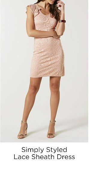 Simply Styled Women's Lace Sheath Dress
