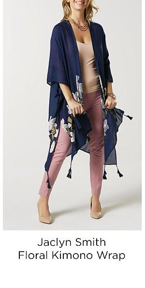 Jaclyn Smith Women's Kimono Wrap - Floral