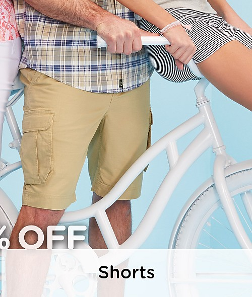 Up to 30% off Tops and Shorts for the Family. Shop Shorts