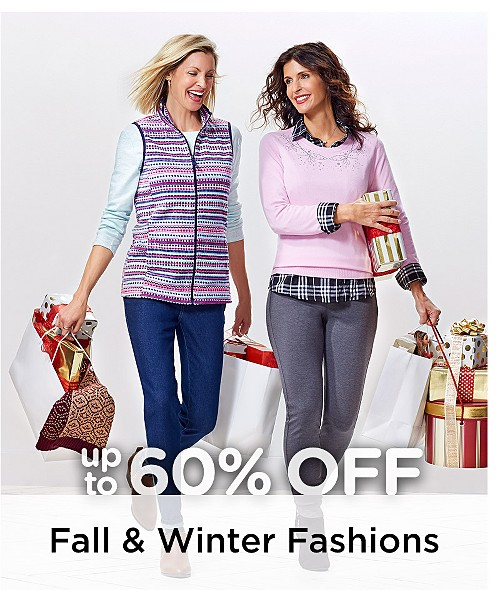 Up to 60% Off Fall & Winter Fashions For The Family
