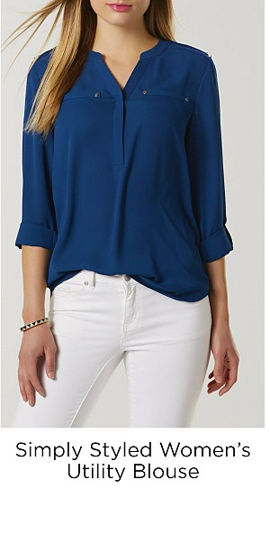 Simply Styled Women's Utility Blouse