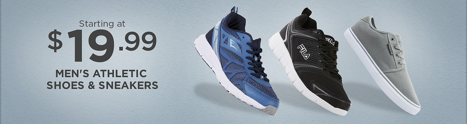 Starting at $19.99 Men's Athletic Shoes