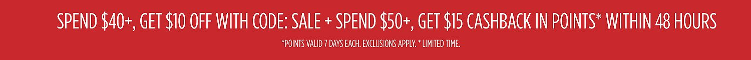 Spend $40+, get $10 OFF with code: SALE