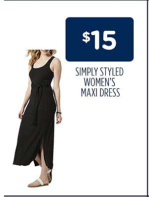 $15 Simply Styled Women's Belted Maxi Dresses