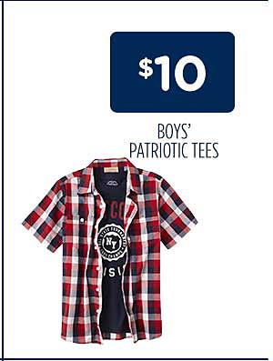 $10 Boys' Patriotic Tees