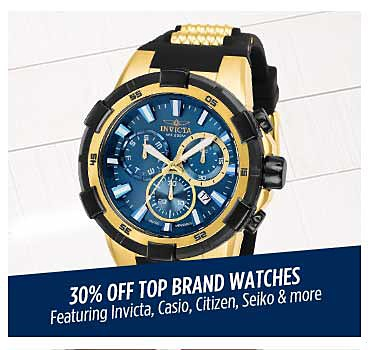 Up to 30% off top brand watches