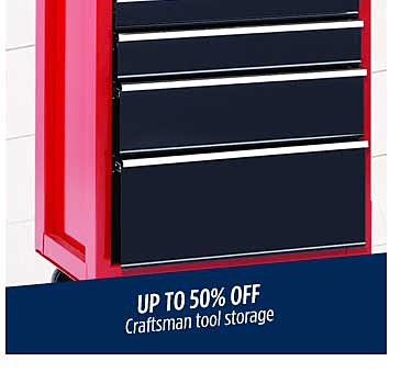 Up to 50% off tool storage