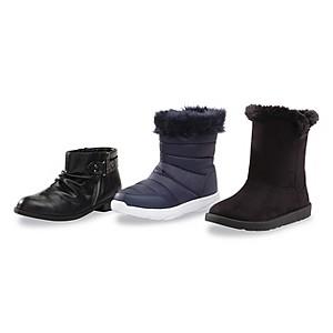 Women's booties, $14.99