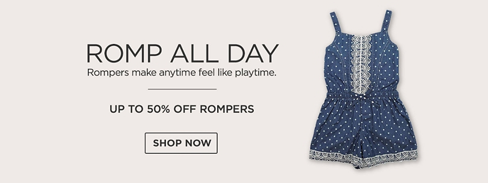 Up to 50% Rompers