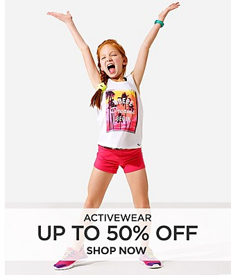 Up to 50% off Activewear. Shop Now.