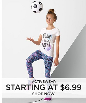 Activewear Starting at $6.99