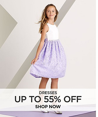 Dresses up to 55% off