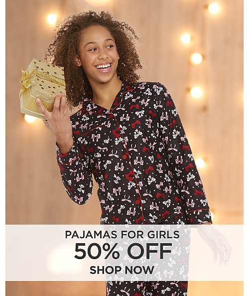 50% off pajamas for girls. Shop now