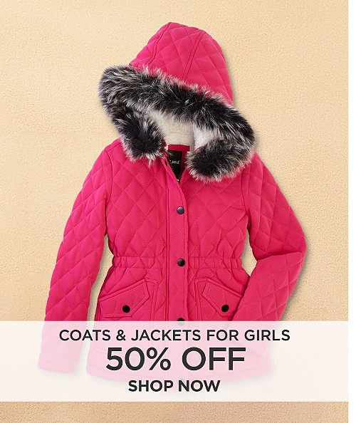 50% off coats & jackets for girls. Shop now