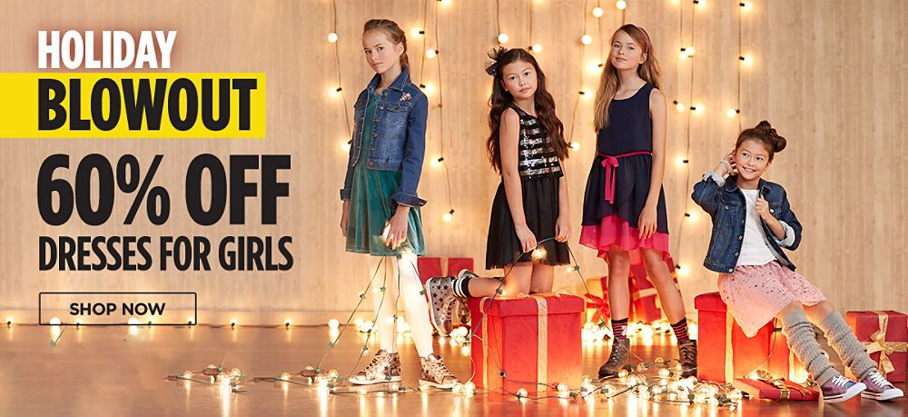 60% off dresses for girls. Shop now