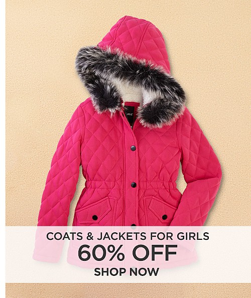 60% off coats & jackets for girls. Shop now