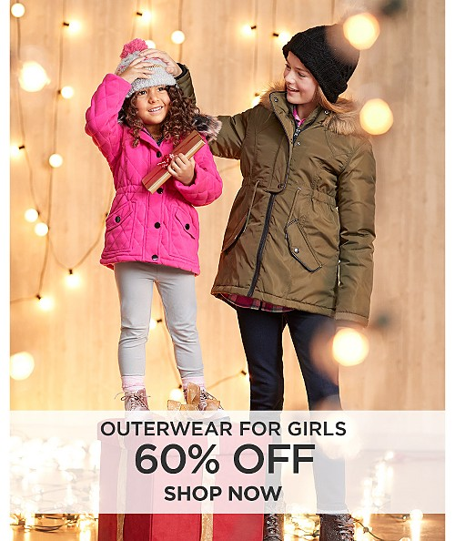 60% off outerwear for girls. Shop now
