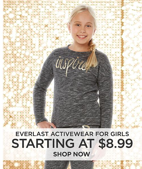 Everlast Activewear for Girls starting at $8.99. Shop now