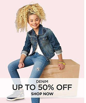 Up to 50% off Denim. Shop Now