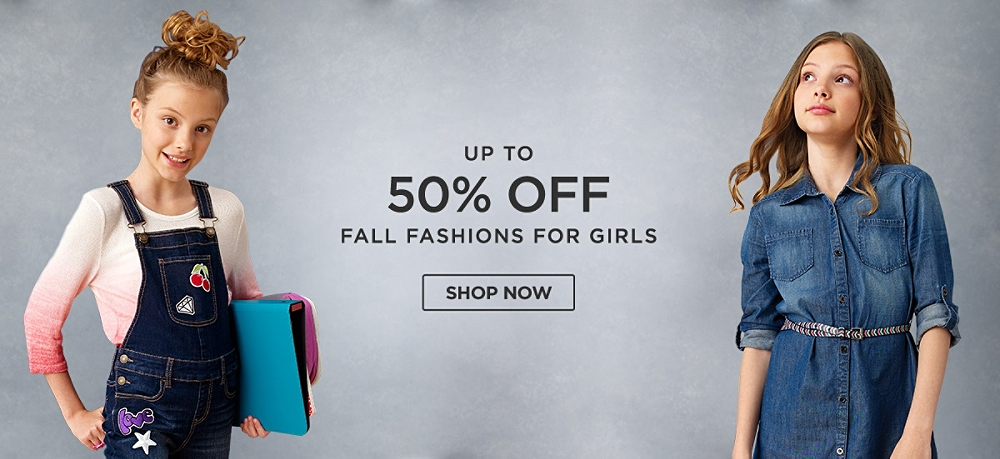 Up to 50% Off Fall Fashions for girls. Shop Now