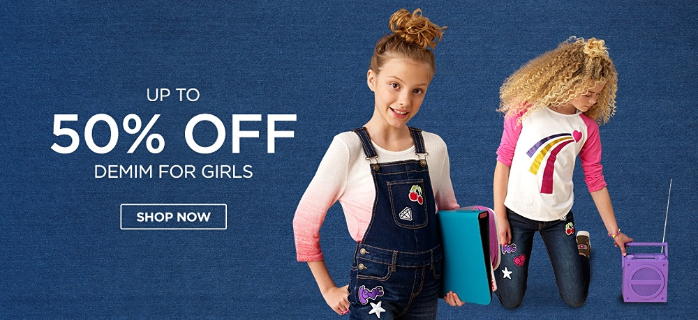 Up to 50% Off Denim for girls