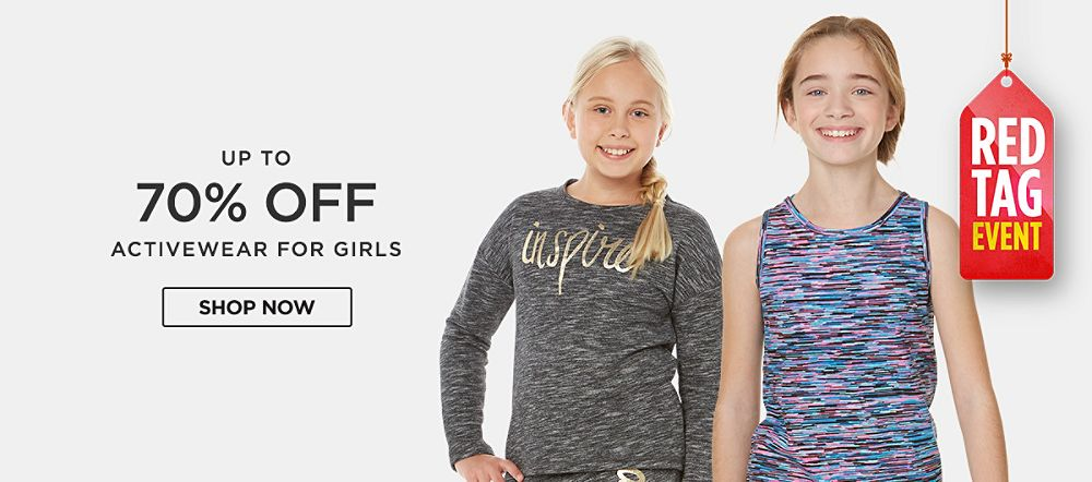 Up to 70% off activewear for girls. Shop now
