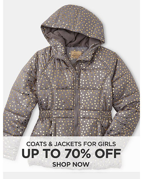Up to 70% Off coats & jackets for Girls. Shop now