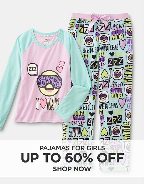 Up to 60% off Pajamas for girls. Shop now