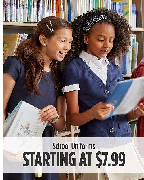School Uniforms Starting at $7.99