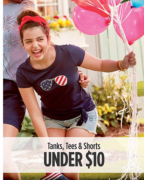 Tanks, Tees & Shorts Under $10