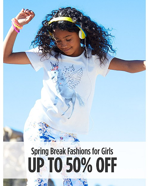 Up to 50% Off Spring Break Fashions for Girls. Shop now