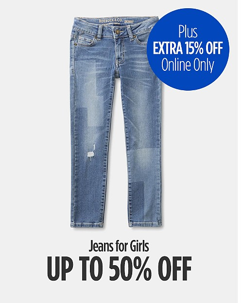 Up to 50% Off Jeans for Girls + Extra 15% Off Online Only. Shop now