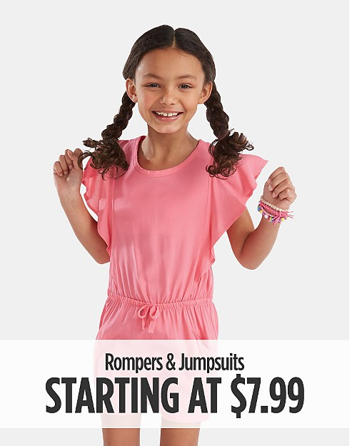 Rompers & Jumpsuits starting at $7.99