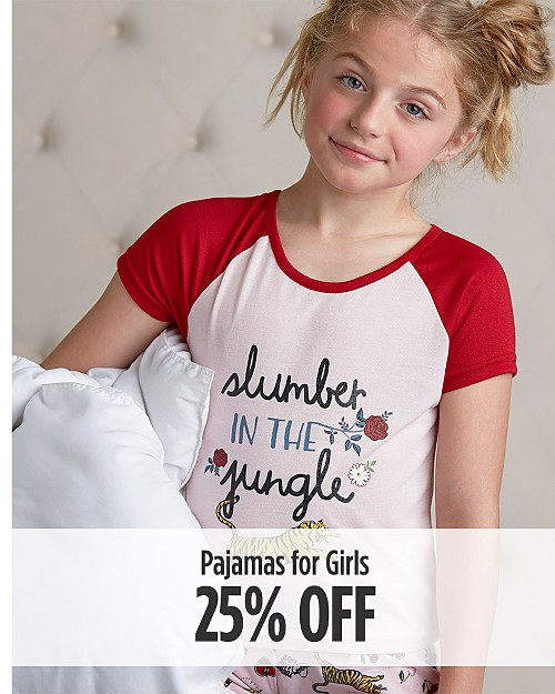 25% off Pajamas for Girls