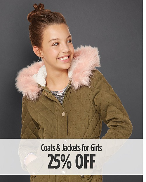 25% Off Coats & Jackets for Girls