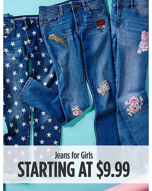 Jeans for Girls Starting at $9.99