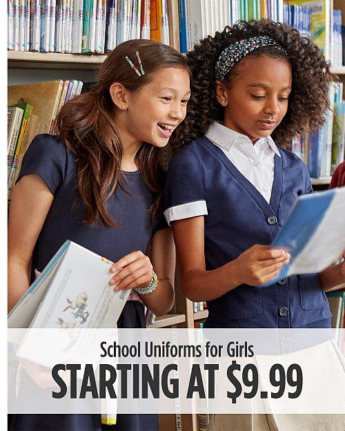 School Uniforms for Girls Starting at $9.99
