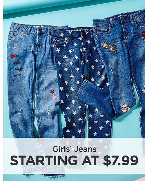 Girls' Jeans Starting at $7.99