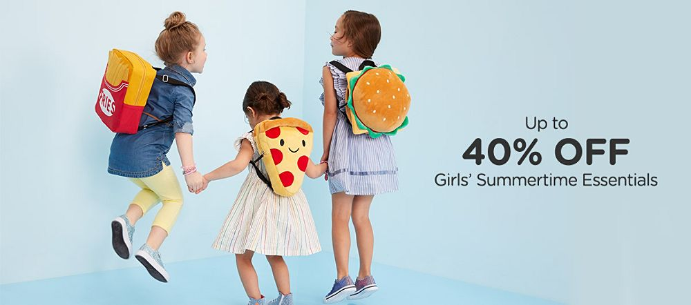 Up to 40% off Girls' Summertime Essentials