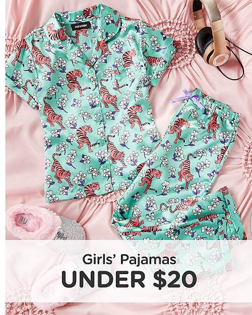 Girls' Pajamas Under $20