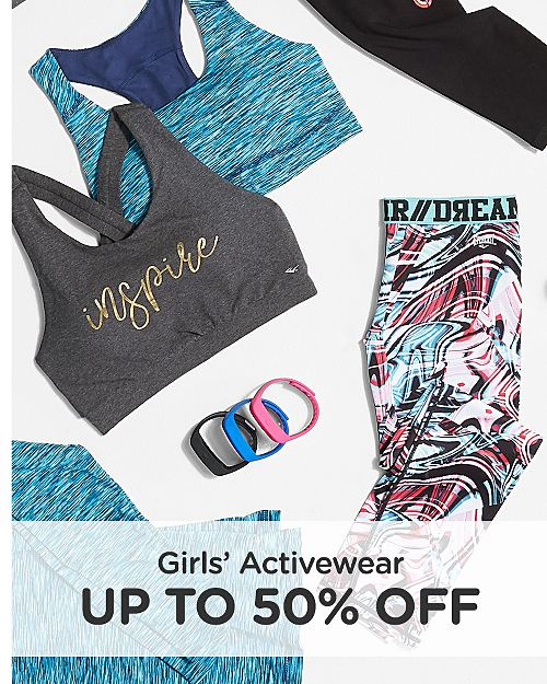 Up to 50% Off Girls' Activewear