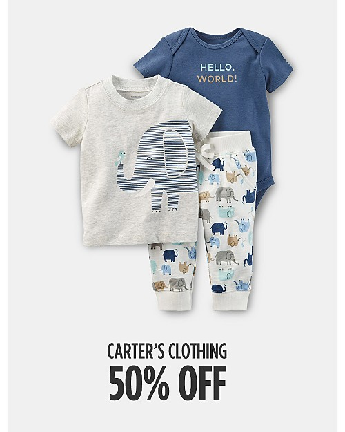 50% off Carter's Clothing. Shop now